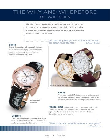 The Why and Wherefore of Watches - Keith Strandberg
