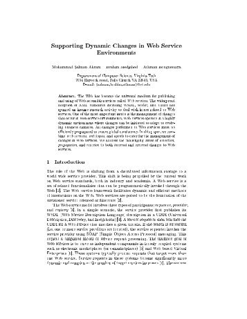 Supporting Dynamic Changes in Web Service Environments ...