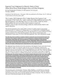 Supreme Court Judgement on Minority Status of ... - HereNow4U.net