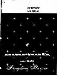Marantz 2265b Service Manual