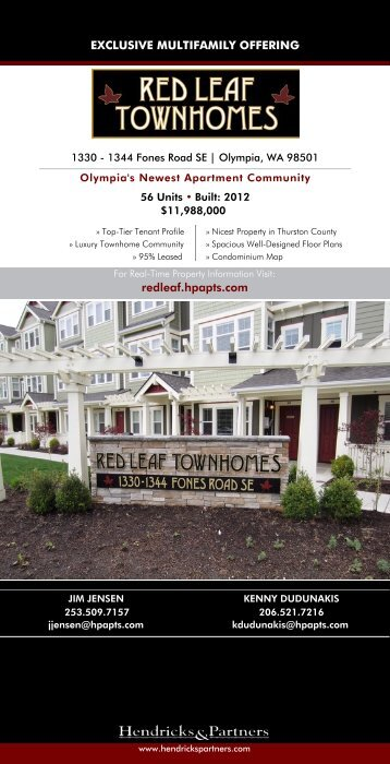 EXCLUSIVE MULTIFAMILY OFFERING redleaf.hpapts.com