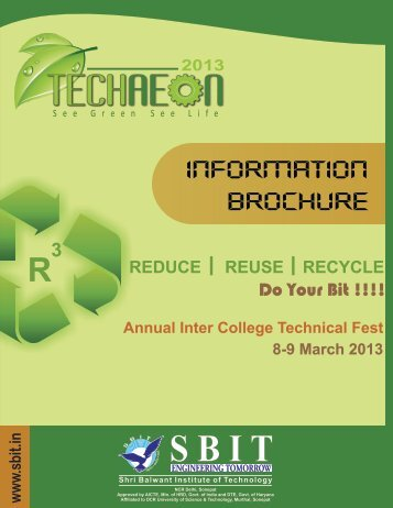 to Download TechAeon Information Brochure - Sbit.in