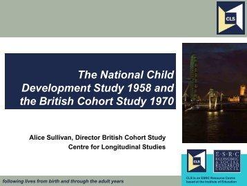 Behaviour - Centre for Longitudinal Studies