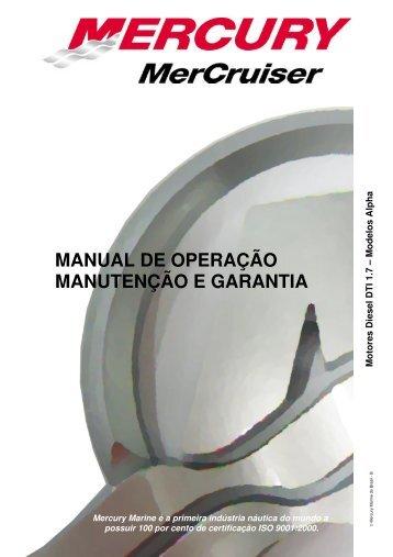 MANUAL DE OPERAÇÃO MANUTENÇÃO E GARANTIA - Mercury
