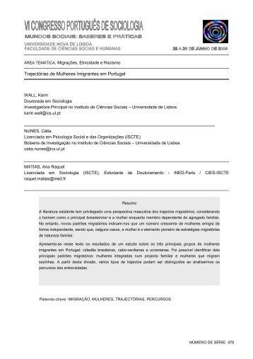 476 - Trajectórias de Mulheres Imigrantes em Portugal - Associação ...