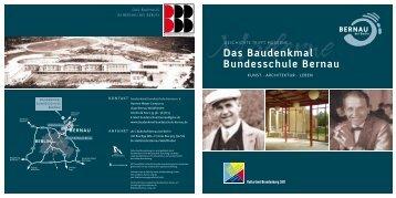 Das Baudenkmal Bundesschule Bernau - BeSt Bernau