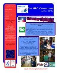 April Newsletter 2011.pub - Virginia Department of Health