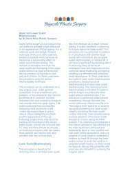 to read Dr. Ross' views on - Bayside Plastic Surgery