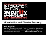 Virtualization and Disaster Recovery - Illinois Institute of Technology