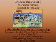 PDF Version (720 KB) - Wyoming Department of Workforce Services ...