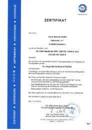 DIN EN 13445-4 - Franz Schuck GmbH