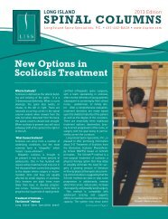 New Options In Scoliosis Treatment - Long Island Spine Specialists ...