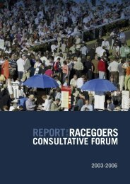 Racegoers Consultative Forum Report - Horse Racing Ireland