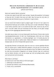 Festansprache - Ehrenamt Emsland