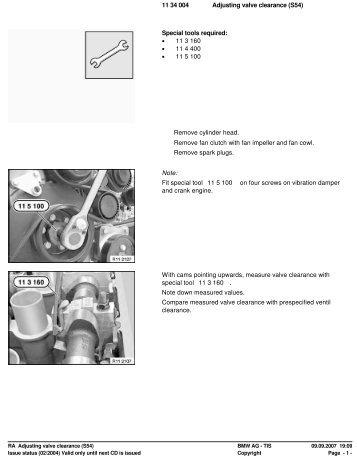 RA Adjusting valve clearance (S54) - Ad Kusters