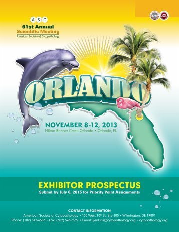 EXHIBITOR PROSPECTUS - 61st Annual Scientific Meeting