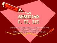 Intro to Seminar - International Islamic University Malaysia, Staff ...