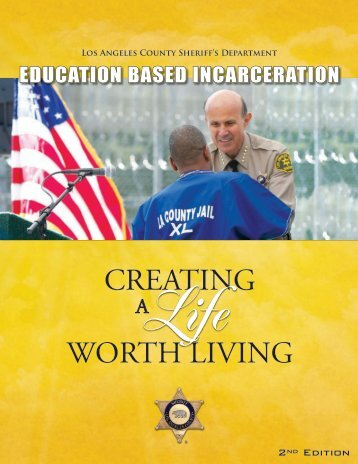 education based incarceration - Los Angeles County Sheriff's ...