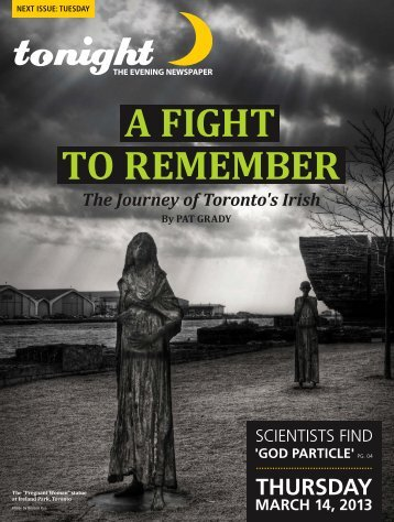 A FIGHT TO REMEMBER - tonight Newspaper