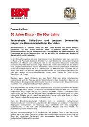 6 PM 50 Jahre Disco Die 90er Jahre Vom 5.10.2009