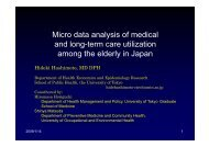 Micro data analysis of medical and long-term care utilization among ...