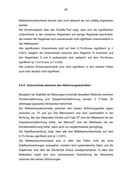 Die Übertragungsgenauigkeit von okklusalen Verhältnissen in den ...