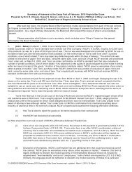 Summary of Answers - William & Mary Law