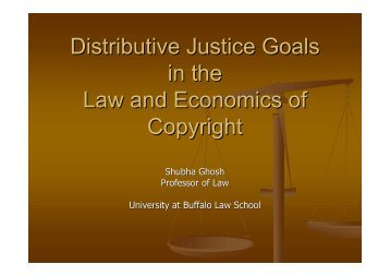Distributive Justice Goals in the Law and Economics of Copyright