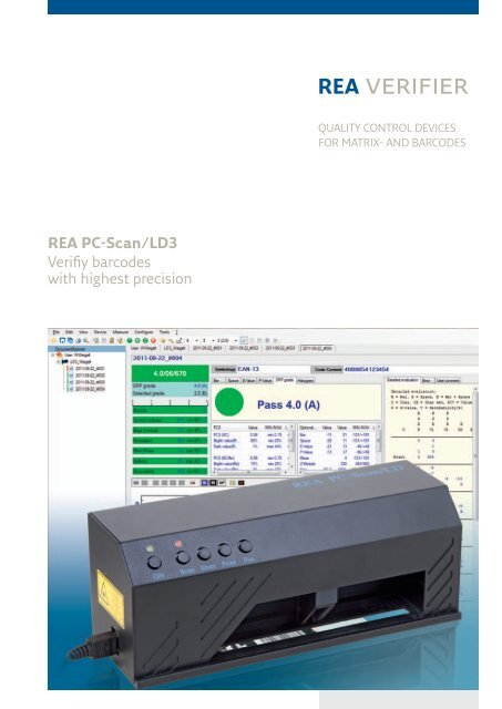 REA PC-Scan/LD3 Verifiy barcodes with highest precision