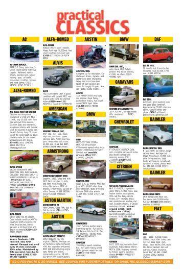 August 2005 - Classic Cars magazine