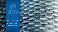 Atlantic Sapphire – 1000 ton Salmon production in ... - Tides Canada