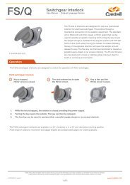 FS/Q Switchgear Interlock - Castell