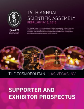 SUPPORTER AND EXHIBITOR PROSPECTUS - AAEM