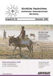 Ausgabe Nr. 26, Dezember 2009 - Katholische Pfarrei St. Norbert ...