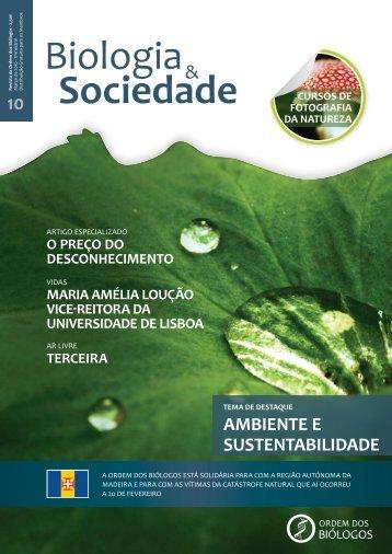 AMBIENTE E SUSTENTABILIDADE - Ordem dos Biólogos
