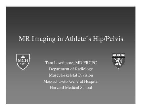 MR Imaging in Athlete's Hip/Pelvis