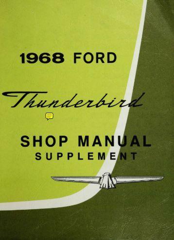 DEMO - 1968 Ford Thunderbird Shop Manual - ForelPublishing.com
