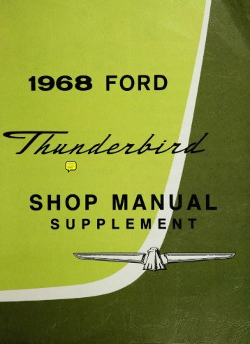 DEMO - 1968 Ford Thunderbird Shop Manual - ForelPublishing.com