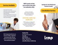 Download the Consultation Services Brochure - ISMP Canada