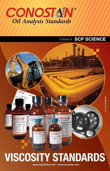 Viscosity Standards Flyer (PDF - Approx. 670 kb) - SCP Science
