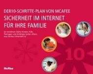 SICHERHEIT IM INTERNET FÜR IHRE FAMILIE - McAfee