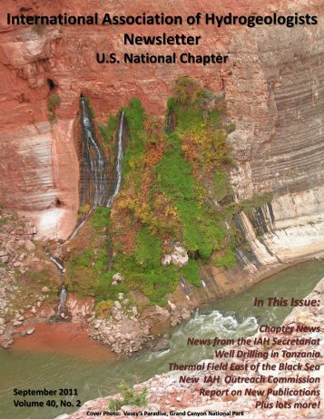 September 2011 - International Association of Hydrogeologists
