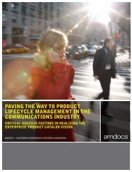 PAVING THE WAY TO PRODUCT LIFECYCLE ... - Amdocs