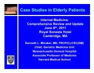 Case Studies in Elderly Patients