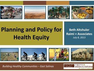 Monterey County Health Presentation - Raimi + Associates