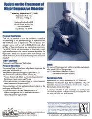 Update on the Treatment of Major Depressive Disorder