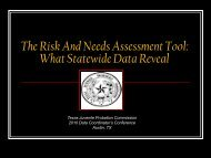 The Risk And Needs Assessment Tool - Texas Juvenile Justice ...