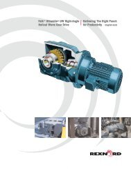 Falk™ Ultramite® UW Right-Angle Helical Worm Gear Drive - Rexnord
