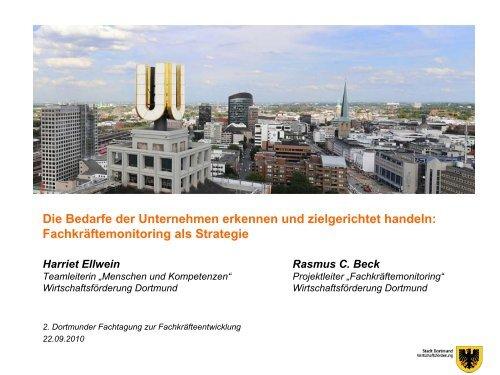 Vortrag Harriet Ellwein und Rasmus C. Beck - Wirtschaftsförderung ...