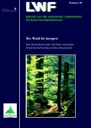 Der Wald f.r morgen - Bayerische Landesanstalt für Wald und ...